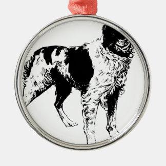 Englischer Springerspaniel-sportliche Silbernes Ornament