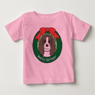 Englischer Springerspaniel-Weihnachten Baby T-shirt