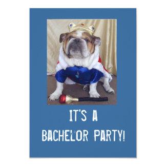 Englisches Bulldoggen-Junggeselle-Party Ivitations 12,7 X 17,8 Cm Einladungskarte