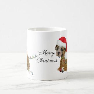 Englisches Bulldoggen-Welpen-Weihnachten Kaffeetasse