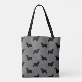 Englisches Cockerspaniel-Silhouette-Muster Tasche