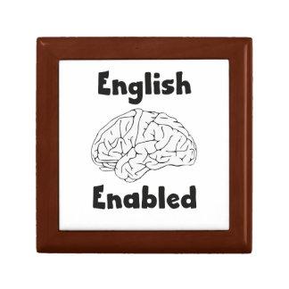 Englisches ermöglichtes Gehirn Geschenkbox