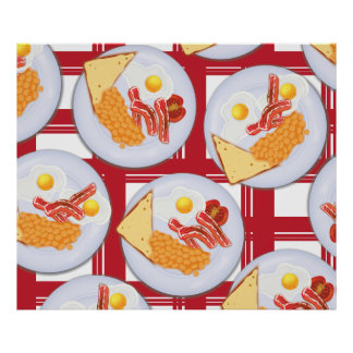Englisches Frühstück Poster