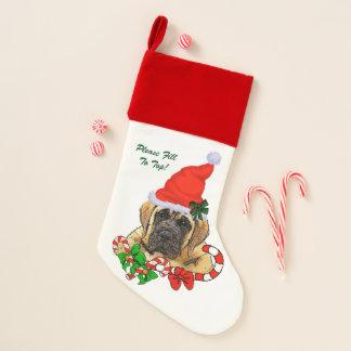 Englisches Mastiff-Welpen-Weihnachten Weihnachtsstrumpf