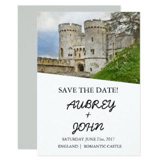Englisches Schloss Save the Date, das Einladung