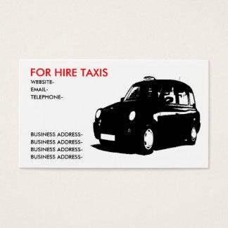 Englisches Taxi Visitenkarte
