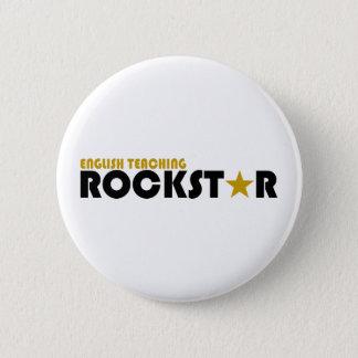 Englisches unterrichtendes Rockstar Runder Button 5,1 Cm