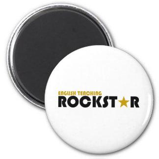 Englisches unterrichtendes Rockstar Runder Magnet 5,1 Cm