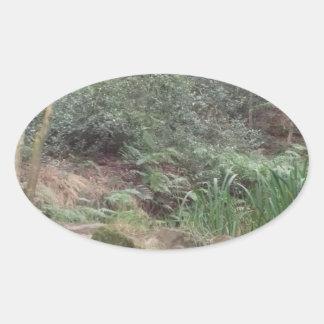 Englisches Waldland Ovaler Aufkleber