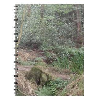 Englisches Waldland Spiral Notizblock