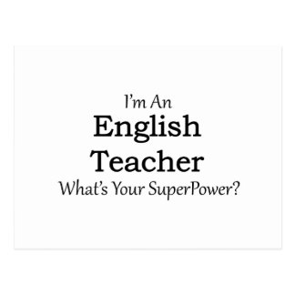 Englischlehrer Postkarte