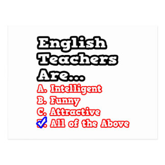 Englischlehrer-Quiz-… Witz Postkarte