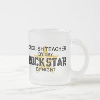 Englischlehrer-Rockstar Matte Glastasse