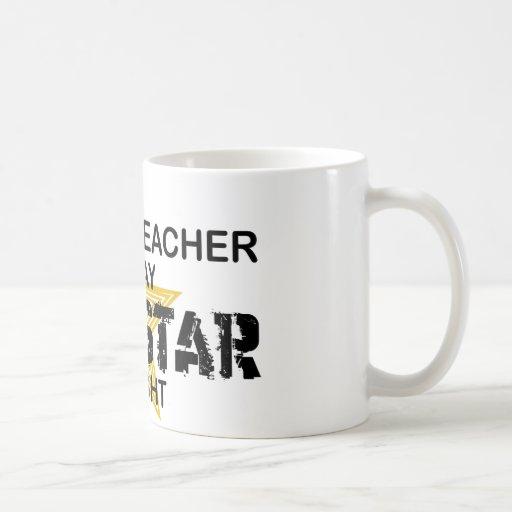 Englischlehrer-Rockstar Teetasse