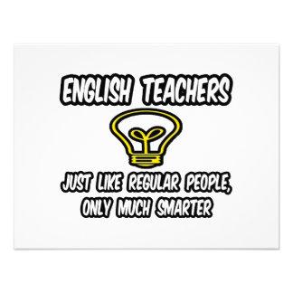 Englischlehrer… wie die regelmäßigen Leute, Individuelle Einladung
