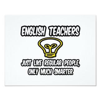 Englischlehrer… wie die regelmäßigen Leute, 10,8 X 14 Cm Einladungskarte