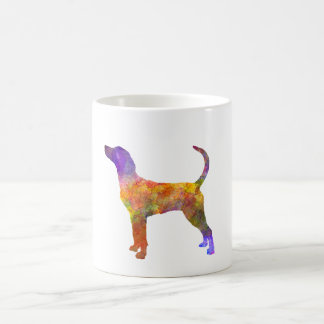 English Foxhound im Watercolor Kaffeetasse