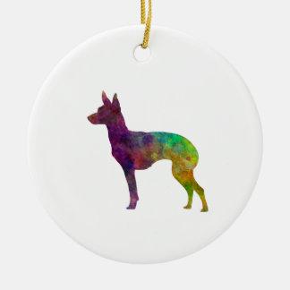 English Toy Terrier im Watercolor Keramik Ornament