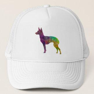 English Toy Terrier im Watercolor Truckerkappe