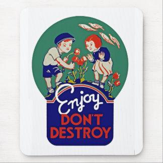 Enjoy zerstören nicht mousepads