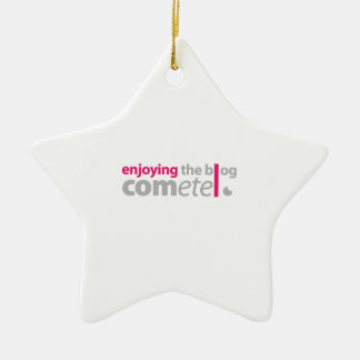 Enjoying begeht the Blog den Punkt Keramik Stern-Ornament