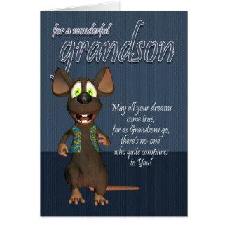 Enkel-Geburtstags-Karte - mit flippiger Maus Karte