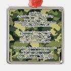 Enkel-Gedicht-Armee-Tarnung Silbernes Ornament