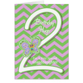 Enkelin-2. Geburtstags-Schmetterlings-Umarmungen Karte