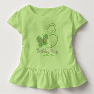Enkelin-3. Geburtstags-Schmetterlings-Umarmungen Kleinkind T-shirt