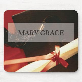Enkelin-Abschluss-Wünsche, horizontales Geschenk Mauspad