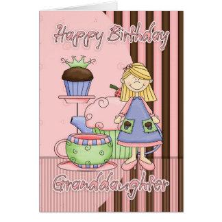 Enkelin-Geburtstag-Karte - kleine Kuchen und Te Karte