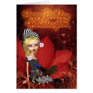 Enkelin, Geburtstags-Karte mit niedlichem Karte