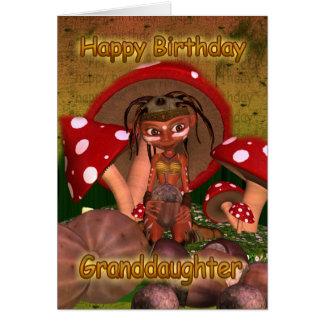 Enkelin-Geburtstags-Karte mit niedlichem modernem Karte