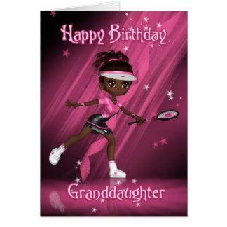 Enkelin-Geburtstags-Karten-Tennis-Spieler - Tweens Karte