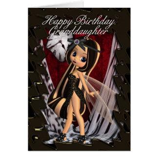 Enkelin-Geburtstagskarte mit moonies Fall Karte