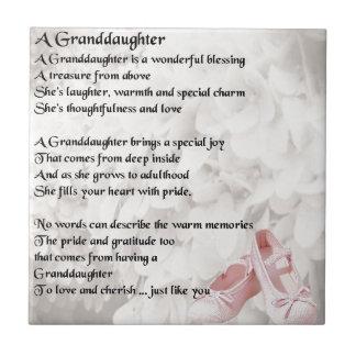 Enkelin-Gedicht - Ballett-Schuh-Entwurf Fliese