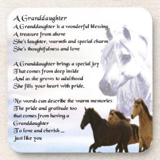 Enkelin-Gedicht - Pferdeentwurf Getränkeuntersetzer
