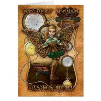Enkelin Steempunk Fee, Zähne und Uhren Karte