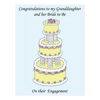 Enkelin und ihre Braut-Verpflichtung Postkarten