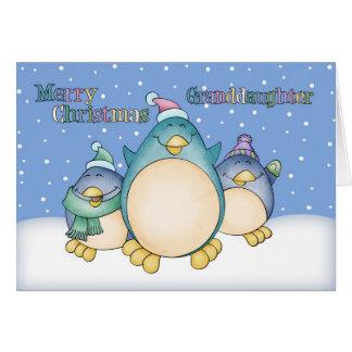 Enkelin-Weihnachtskarte mit Pinguinen Karte
