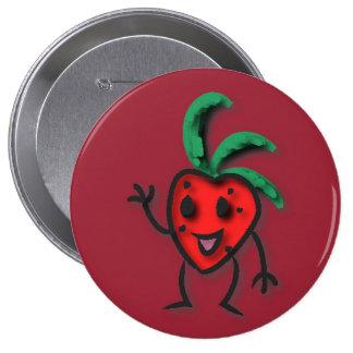 Enorm, 4 Zoll-runder Erdbeerknopf Runder Button 10,2 Cm