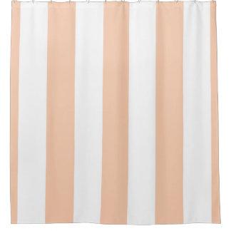 Enorme Aprikosen-weißer vertikaler Streifen NL #3 Duschvorhang