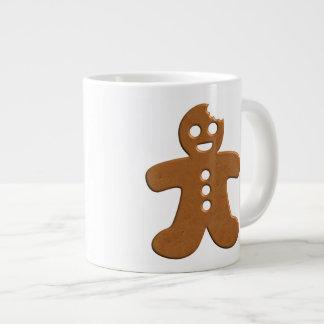 Enorme glückliche Lebkuchen-Mann-mit Monogramm Jumbo-Tasse