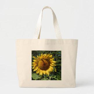 Enorme Sonnenblume Jumbo Stoffbeutel