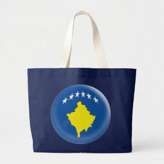 Enorme Taschen-Tasche mit Kosovo-Flagge Jumbo Stoffbeutel
