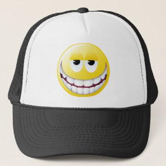 Enormer Lächeln-Smiley Truckerkappe