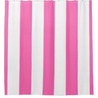 Enormes Pink-weißer vertikaler Streifen NL #3 Duschvorhang