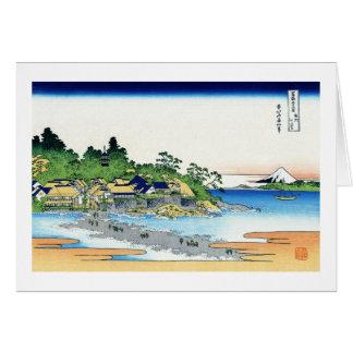 Enoshima in der Sagami Provinz Katsushika Hokusai Karte