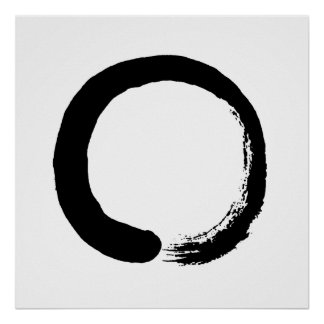 Enso Kreis-Zen-Kalligraphie-Plakat Poster