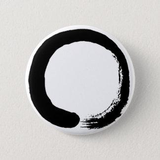 Enso Kreis-Zen-Kalligraphie Runder Button 5,1 Cm